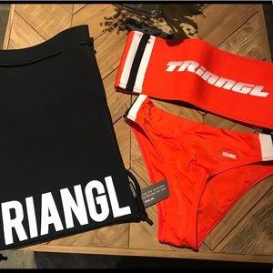 TRIANGL Bikini - New with tags. Top S++, Bottom S